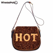 WHOSEPET Messenger Bag Female Casual Small Phone Coin Messenger Purse Girls Leisure Sling Bag Women's Coffee Beans Shoulder Bags(China)