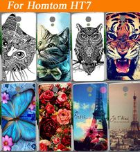 Original Style 100% Quality case For Homtom HT7 Various Patterns Beautiful Flowers Special Eiffel Towers Design cell phone case