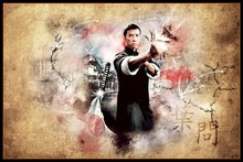 IP MAN martial arts ip man cloth silk art wall poster and prints