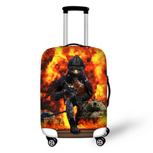 Prevent the impact to prevent scratches Pacifist Satire war pattern luggage case travel must be soft and durable non-slip
