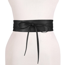 lace up pu leather designer wide corset cummerbunds strap belts for women girls,High Waist Slimming girdle Belt ties bow bands