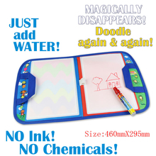 Water Drawing Mat With Magic Pen Aqua Doodle Kid Game Magical Drawing Board Water Mat Learning Educational Toy For Children