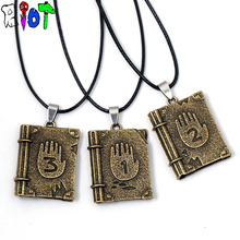 Gravity Falls Journal 3 Diepsloot diary LOGO necklace Link Chain choker alloy pendant Necklaces children jewelry Drop shipping