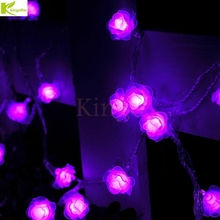 Kingoffer 50M Led String Lights 400led Rose Flower Holiday Decoration Festival Wedding Party Christmas Indoor Outdoor Lamp 220V(China)