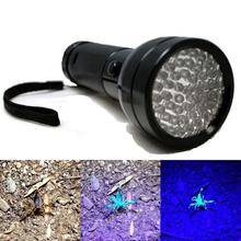 2017 51 UV LED Scorpion Detector Hunter Finder Ultra Violet Blacklight Flashlight(China)