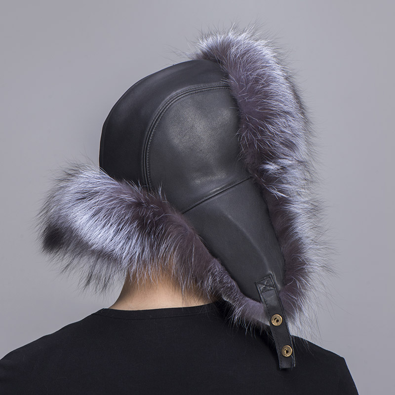 big fur hat silver fox fur 5