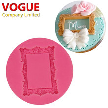 Food-grade Silicone Mold Flower Ring Frame Fondant Cake Decorating Tools Silicone Soap Mold Silicone Cake Mold(China)