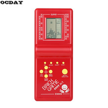 Retro Tetris Brick Game Electronic Vintage Tetris Brick Handheld Arcade Pocket Toys LCD Game For Children Educational Toys New(China)