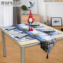 1PCS Lighthouse Printed Table Runner Soft Polyester Cotton Fabric Table Flag 33x180cm Machine Washable Home Xmas Table Decor(China)