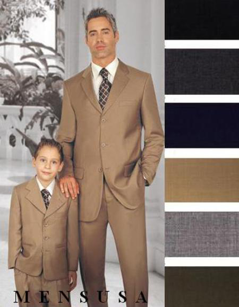 2016 Custom Made Champagne Father And Son Suit 2 Pieces Wedding Prom Party Suits For Men Handsome Best Man Suit (Jacket+Pants)
