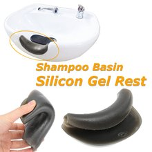 Pro Hair Spa Salon Wash Gel Neck Rest Cushion Pillow Durable Silicon Soft Hair Wash Shampoo Sink Basin Gripper For Hairdressing