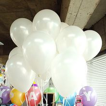 Free Ship 100pc/Lot 10 Inch 1.2g  White Ballon Helium Inflable Snow White Party Wedding Balloons