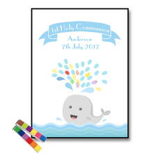 Canvas Modern Personalise Baby Shower Party Gift Guest Book Fingerprint Celebrate Gifts Decoration 2 set Ink pad Free