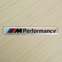 ///M Performance Car Styling Auto Aluminium Body Side Rear Emblem Badge Sticker for BMW M3 M5 M6 X 1-7 E Series Universal Silver(China)