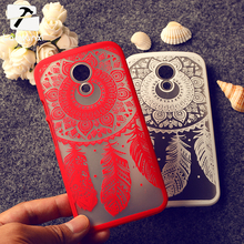 Rubberized Painted Dream Catcher Flower Pattern Mobile Phone Skin Case Cover For Moto G2 G+1 (G 2nd Gen) XT1063 Phone Hard Shell
