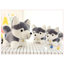 Hot! OCDAY Husky Plush Toy Simulation Dog Baby Sleeping Appease Doll Kids Birthday Xmas Gifts Toys For Children(China)