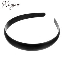 5pcs/lot 18mm 30mm 38mm 44mm Black Wide Plastic Hair Band Headband Base for Women Hair Jewelry Accessories Wholesale F1928B