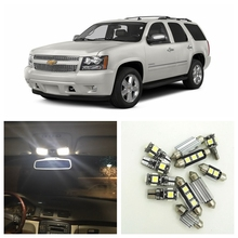 14pcs White LED Light Bulbs Interior Package Kit For Chevy Chevrolet Tahoe 2007-2014 Map Dome License Plate Lamp Chevy-B-13(China)