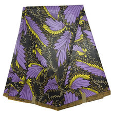 Java Block Real Wax Fabric purple colour Super hitaiget print wax veritable Nigerian style Fabric