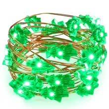 New 2M 20 Leds Christmas Tree Copper Wire String Lights Battery Powered For Party Home Wedding Garden Garland Christmas Party(China)