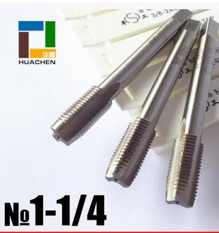 Free shipping of UN standard 1-1/4-14 UNS HSS machine straight flute Tap for UNS standard metal steel workpiece threading<br><br>Aliexpress