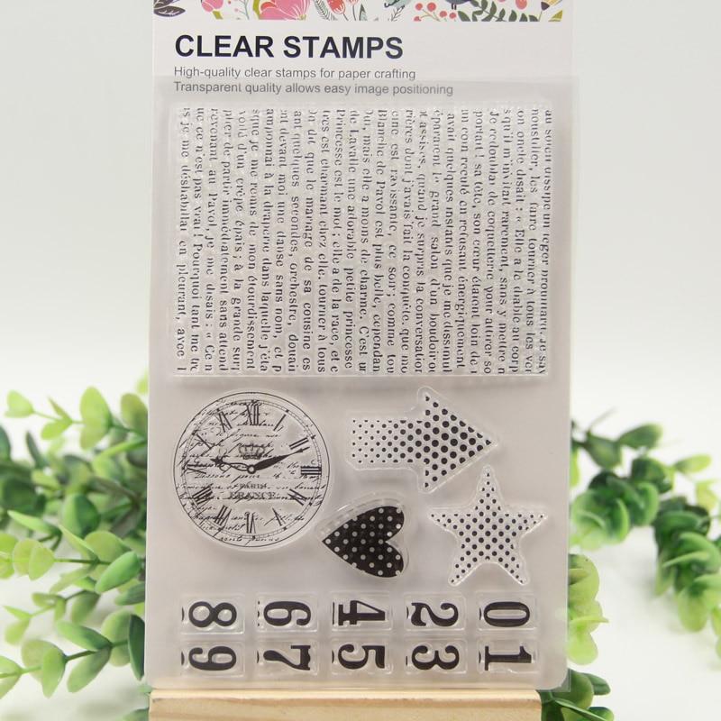 1 sheet DIY Number sign background Design Transparent Clear Rubber Stamp Seal Paper Craft Scrapbooking Decoration<br><br>Aliexpress