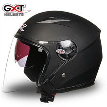 GXT New Adult Half Face Motorcycle Helmet Dual Lens Four Season High Safety Quality Motorbike Racing Helmet DOT ECE 512(China)