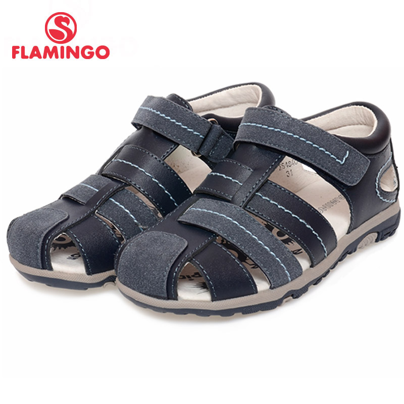 FLAMINGO 2017 new arrival summer kids shoes fashion high quality 100% genuine leather children sandals for boy XS4840<br><br>Aliexpress