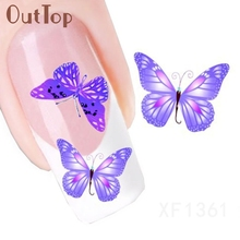 New Fashion Design Butterfly Pattern Nail Art Foil Stickers Transfer Decal Tips Manicure Nial Decoration U0313