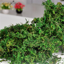 100g/bag Keep dry real green moss decorative plants vase artificial turf silk Flower accessories for flowerpot decoration