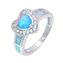 Wholesale & Retail Fashion Fine Blue Fire Opal Ring 925 Sterling Sliver Jewelry For Women RMT1516002(China)