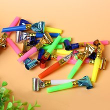 100pcs Colorful Whistle Blowing Dragon Funny Childrens Kids Birthday Party Supplies Blowouts Blowout Baby Birthday Accessory Toy(China)