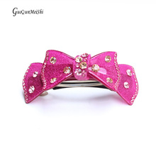 New Luxury Hair Jewelry for short hair Acylic with Rhinestone Hair Accessories Retail for Women Hair Clips Gift Free Shipping