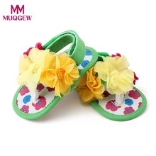 2017 fashion summer Baby Flower pattern garden shoes Toddler Princess First Walkers Girls Kid Cotton Fabric Toddler shoes(China)