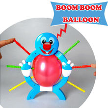 Crazy Party game Fun Boom Boom Balloon Poking Board  Game Fun Great Family Fun Toys Board Game Educational toys For kids