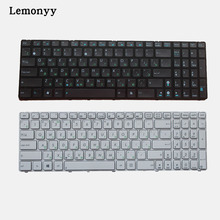 Default black/White new REPLACEMENT Laptop keyboard for ASUS G60 G60JX K52 Service NSK-UGC0R RUSSIAN White black(China)