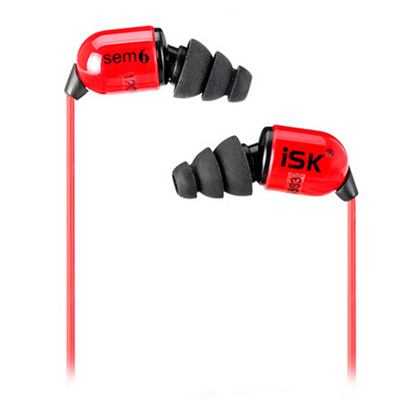 Original ISK SEM6 In Ear Earphone High Quality Professional DJ Monitoring Earbud Deep Bass Recording Studio Headset Auriculares<br>