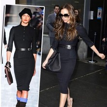 women Victoria stand collar half sleeve slim sexy black dress military uniform plus size belt dresses