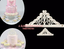 Cake Mold 10 set Tiara Cutters crown Plastic Fondant tools embosser press Mould Cake for cake baking Decorating Mold Cupcake