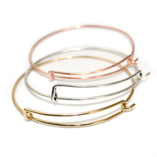 Hot Sale Fashion Jewelry Openable Wiring Bangle Adjustable Charm Expandable Bracelets 5 Colors Available