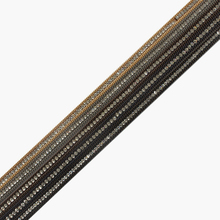 6*3mm Flat Leather Cord Rhinestone Metal Border Suede Surface Fit Bracelet Necklace Bag Waist Belt DIY Jewelry Craft 1.1meter(China)