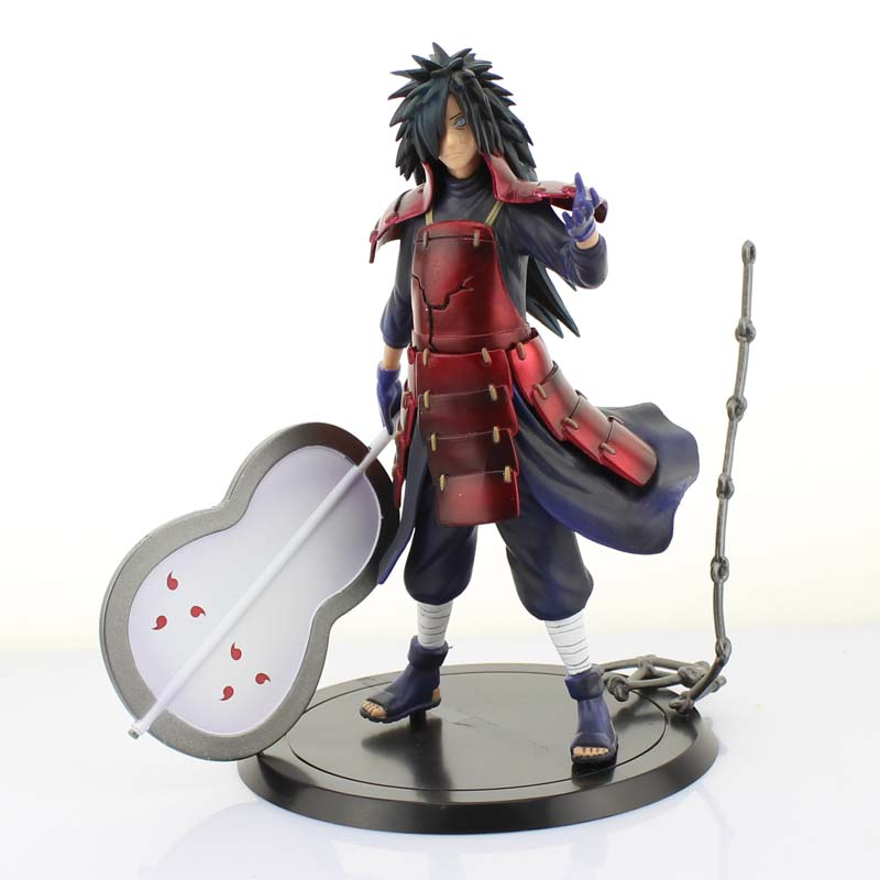 Free Shipping 7 Naruto Shippuden Anime Uchiha Madara Boxed 17cm PVC Action Figure Collection Model Doll Toys Gift<br>