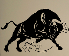 Angry Bull Wall Art Decal Corrida Vinyl Sticker Bullfight Sport Animals Office Home Interior Creative Art Decor Ideas Mural