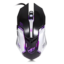 Ergonomic Wired T1 3200DPI 6D Optical Wired Macro Definition Programming Gaming Mouse Computer Colorful Light for Gamer