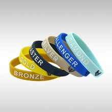 1piece LOL Silicone Bracelet Wristband With Champion Icons Bronze Silver Gold Challenger Master
