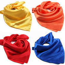 Solid color scarvesWomen wild summer performing rituals small square scarf 60*60 cm(China)