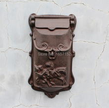 Embossed Trim Decor Bronze cast iron mailbox Wall mounted Mail Box High quality Garden Decorative mailbox(China)