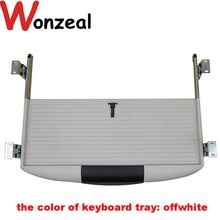 Black/ Offwhite ABS material computer desk keyboard tray accessory keyboard tray drawer slide rail rack guide rail