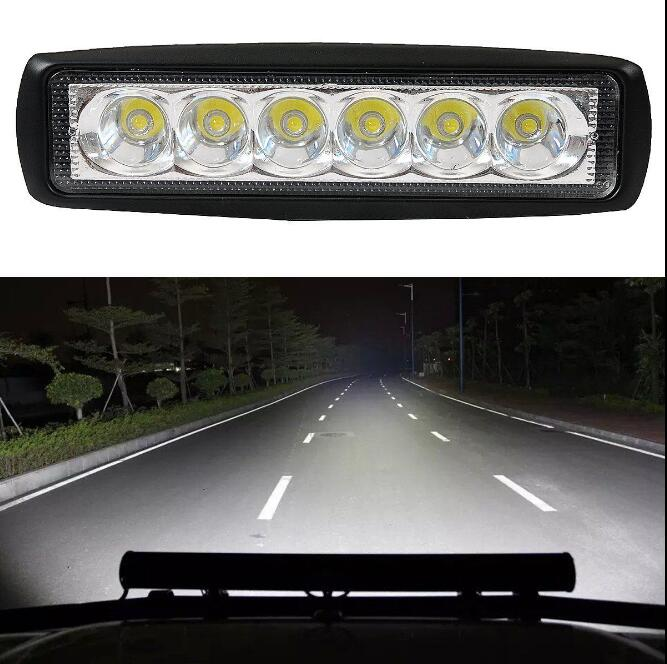 New 18W Flood LED Light Work Bar Lamp Driving Fog Offroad SUV 4WD Car Boat Truck<br><br>Aliexpress