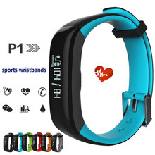 P1 Blood Pressure Smart Bracelet Watch Smart Wristband with Heart Rate Monitor Blueooth Sport Track Pedometer Message Reminder